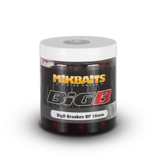 Mikbaits boilie v dipu Legends BigB Broskev Black Pepper 250ml