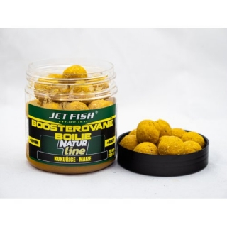 Jet Fish Boostrované Boilie Natur Line Kukuřice/Maize 20mm 250ml